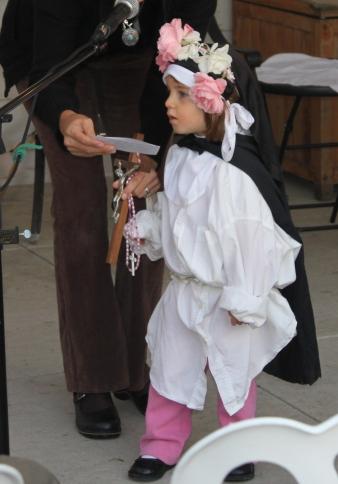Elena as Saint Rose of Lima